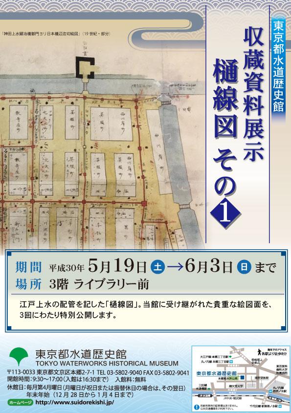 5月収蔵資料展示「樋線図 その1」