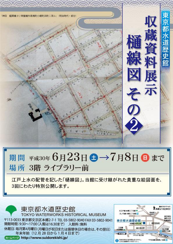 6月収蔵資料展示「樋線図 その2」