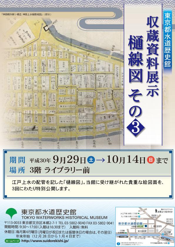 9月収蔵資料展示「樋線図 その3」